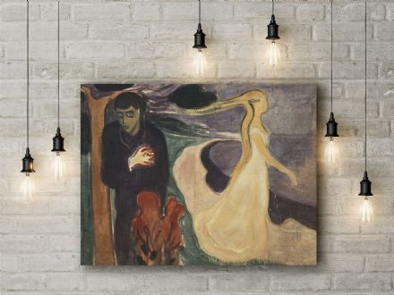 Edvard Munch: Separation. Fine Art Canvas.